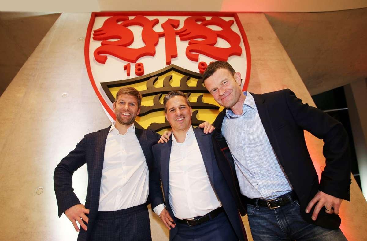 Thomas Hitzlsperger, Stefan Heim, Jochen Röttgermann (v.l.n.r.) Foto: Pressefoto Baumann/Julia Rahn