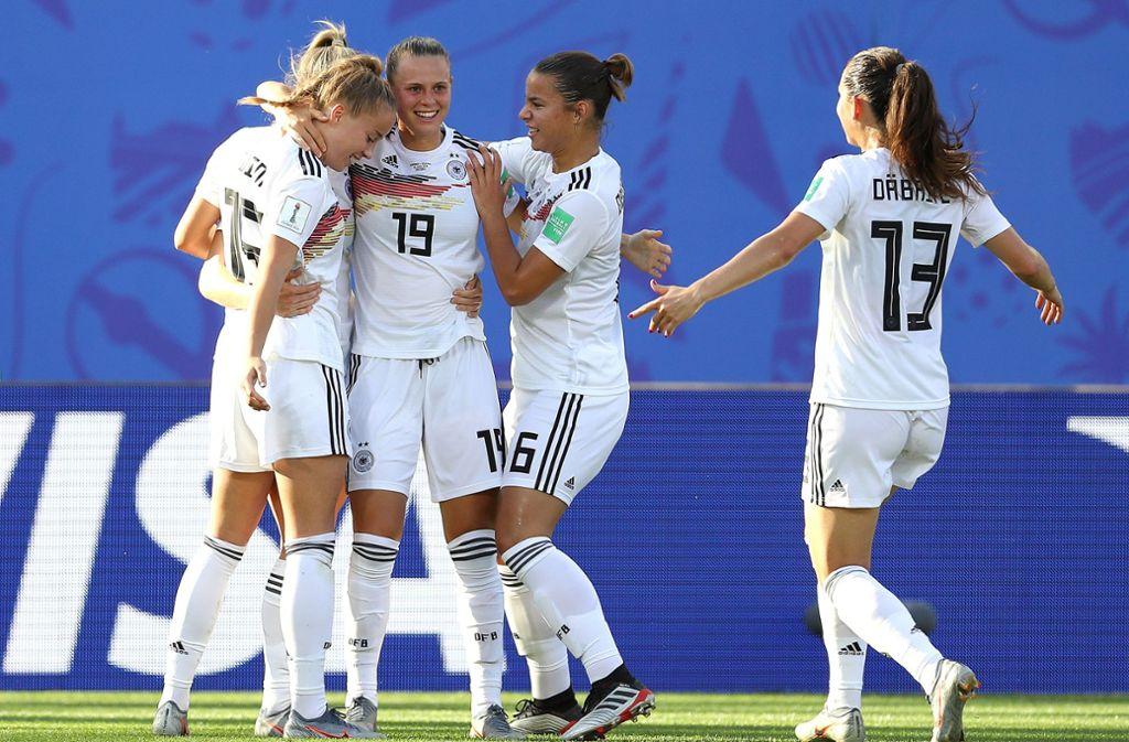 Die DFB-Frauen haben einen 3:0-Sieg gegen Nigeria gefeiert. Foto: Getty Images