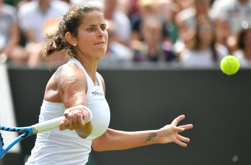 Julia Görges ist ins Viertelfinale von Wimbledon eingezogen. Foto: AFP