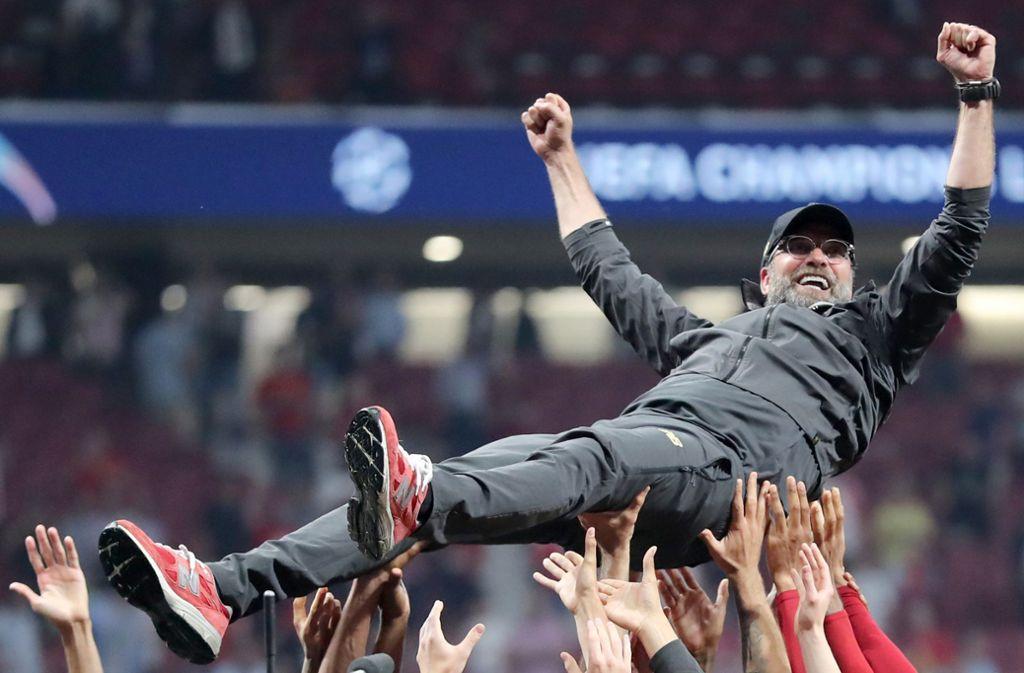 Nach seinen Champions-League-Sieg mit Liverpool gilt Jürgen Klopp als Favorit bei der Wahl zum Trainer des Jahres. Foto: dpa