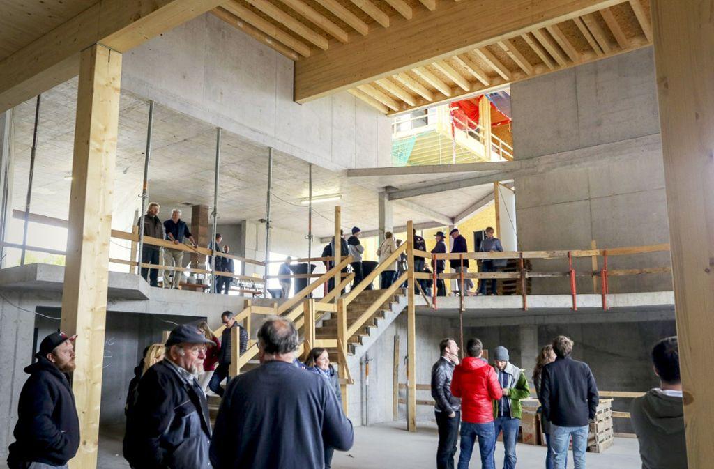 Viel Raum zum Klettern: ein Einblick in die neue Halle Foto: factum/Granville