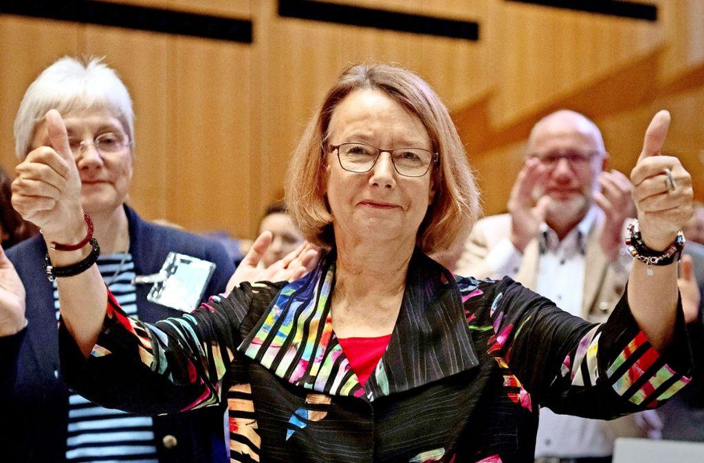 Der Vizepräsidentin des Europaparlaments, Evelyne Gebhardt, droht das Aus. Foto: dpa