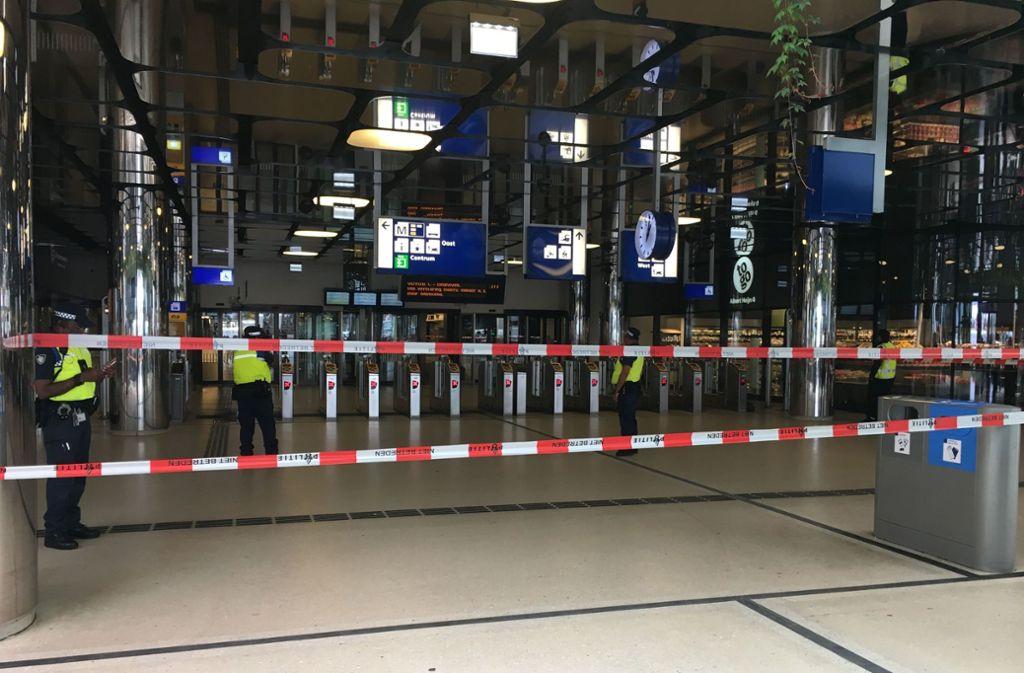 Der Bahnhof in Amsterdam wurde kurzzeitig gesperrt. Foto: AFP