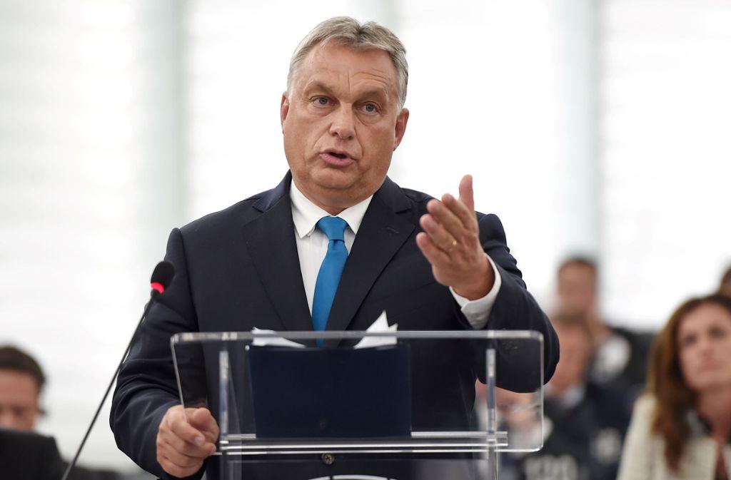 Viktor Orbans Regierung zahlreiche Verstöße vorgeworfen. Foto: AFP