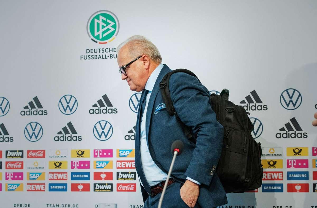 Fritz Keller verlässt den DFB nach nur 20 Monaten im Groll. Foto: imago/Sven Simon
