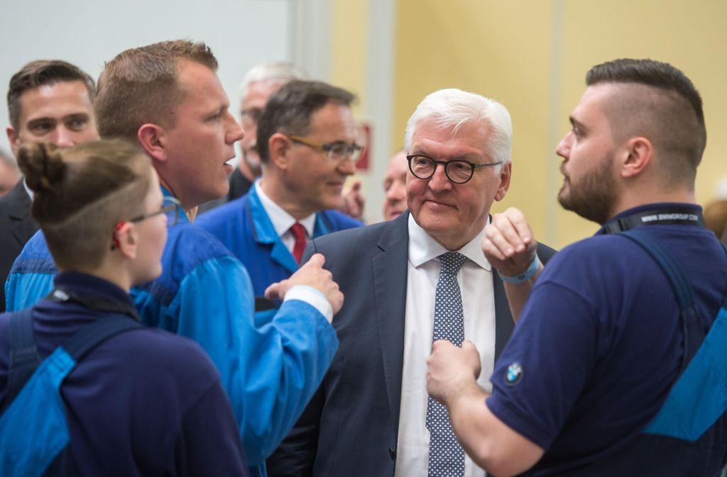Bundespräsident Frank-Walter Steinmeier hält die berufliche Bildunf für unterschätzt. Foto: Getty Images Europe