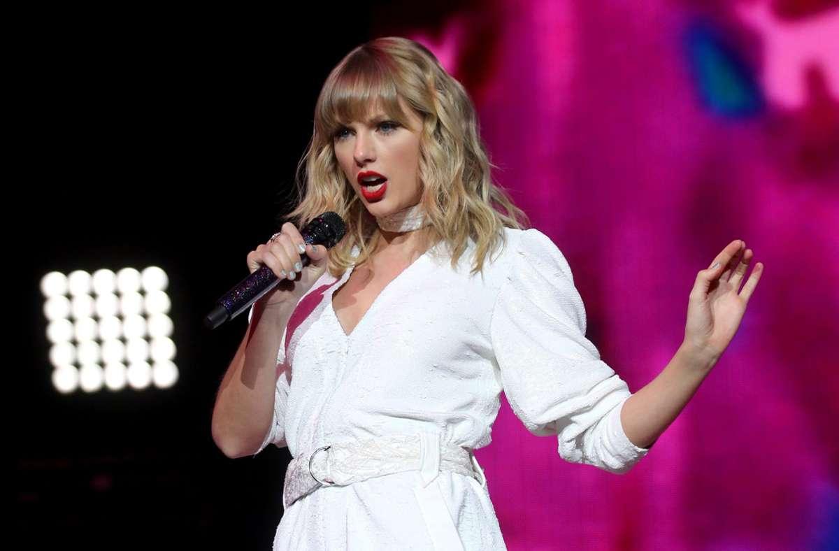 US-Sängerin Taylor Swift bei einem Auftritt in London 2019 Foto: dpa/Isabel Infantes