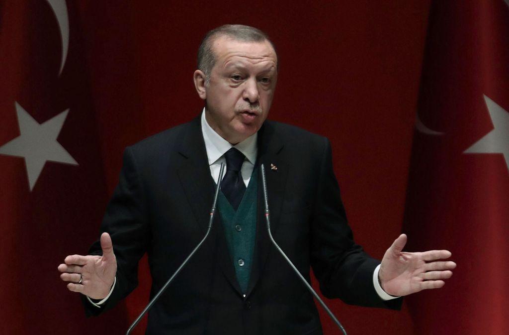 Recep Tayip Erdogan wirft politischen Gegnern gerne Terrorismus vor. Foto: AFP