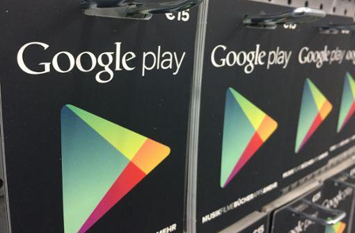 Unbekannte ergaunert Codes für Google-Play-Karten