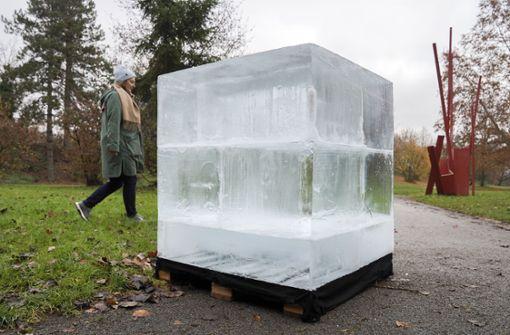 Eisschmelze im Merkelpark