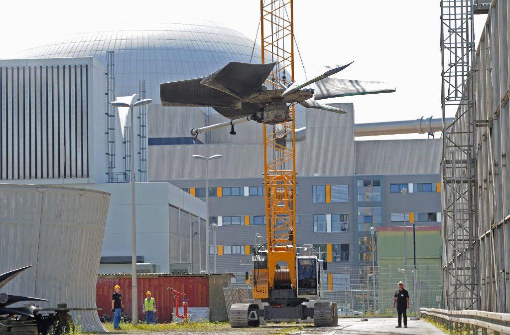 Viel Bauschutt vom rückgebauten Atommeiler bei Gemmrigheim landet im Landkreis Ludwigsburg. Foto: dpa
