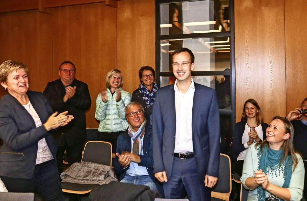 Im  November 2017 wurde Daniel Schamburek als Nachfolger von Tobias Heizmann zum Bürgermeister gewählt. Foto: factum//Simon Granville