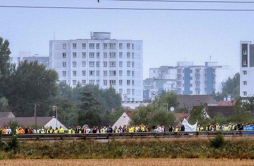 """Demonstranten fordern Räumung des """"Dschungels"""""""