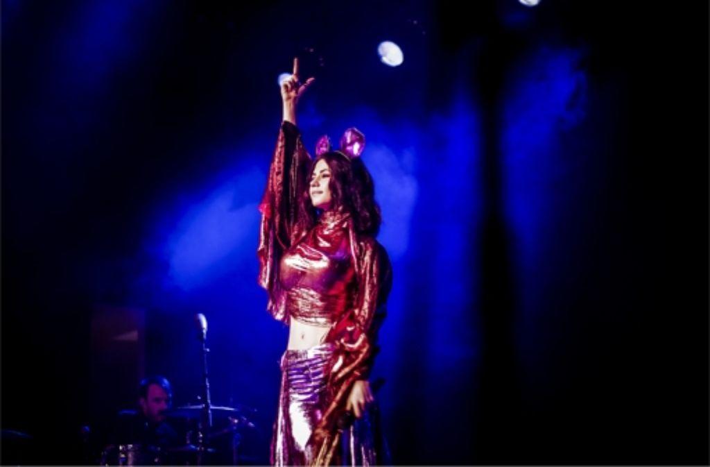 Marina Diamandis alias Marina and the Diamonds beim Konzert im Wizemann in Stuttgart. Weitere Bilder zeigt die Fotostrecke. Foto: Lichtgut/Andreas Engelhard