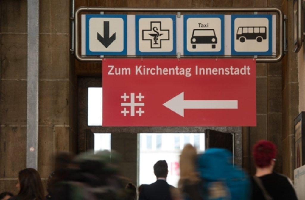 Unser Wegweiser zu fünf Tagen Kirchentag in Stuttgart. Foto: dpa