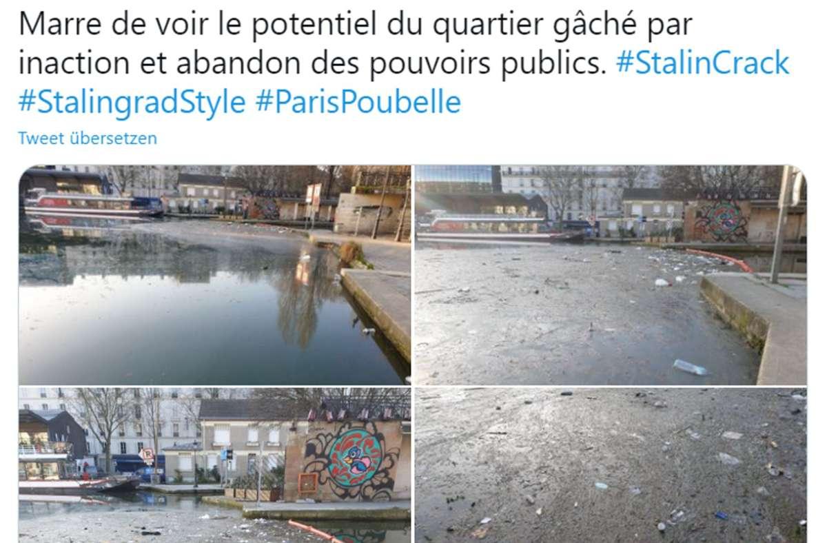 Auf Twitter werden die dreckigen Seiten von Paris gezeigt. Viele Menschen beklagen, dass die Bürgermeisterin Anne Hidalgo zu wenig tut, um die Stadt sauberzuhalten. Foto: Screenshot/Twitter
