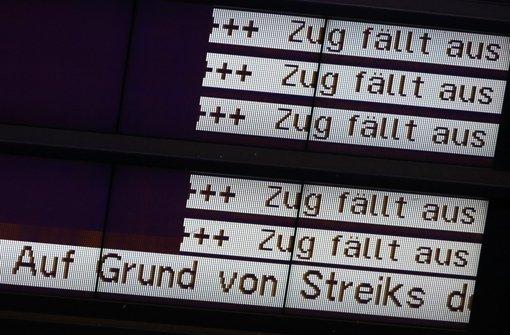 GDL-Streik ab Dienstag