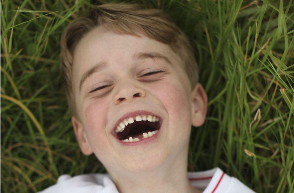 Zahnlückenlächeln: Prinz George wird am 22. Juli sechs Jahre alt. Foto: dpa