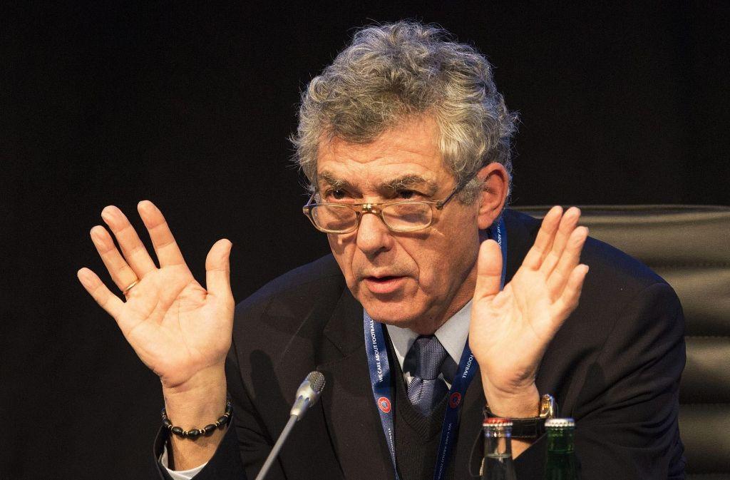 Der FIFA-Vizepräsident Ángel María Villar Llona. Foto: dpa