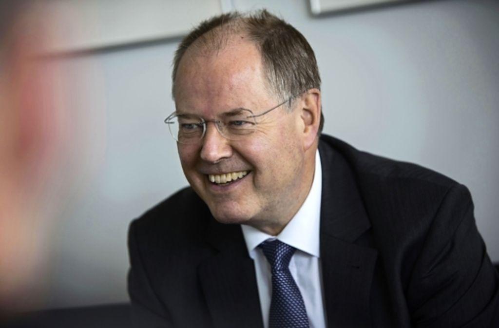 Peer Steinbrück will Bundeskanzler werden. Foto: Michael Steinert