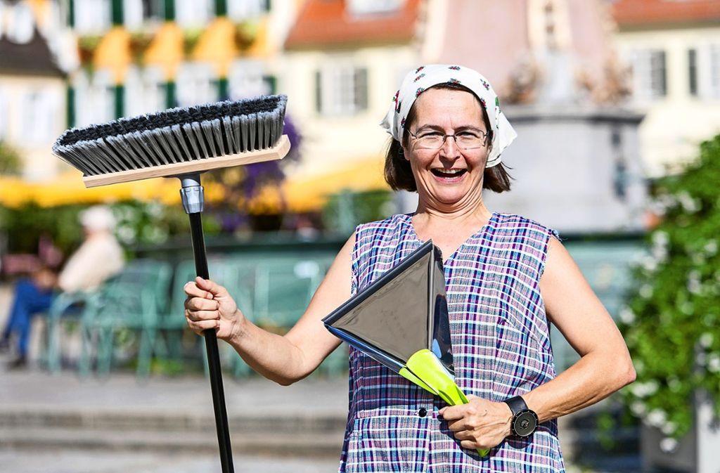 Bestens gerüstet: Xenia Busam als  Marie Schäufele Foto: Benjamin Stollenberg