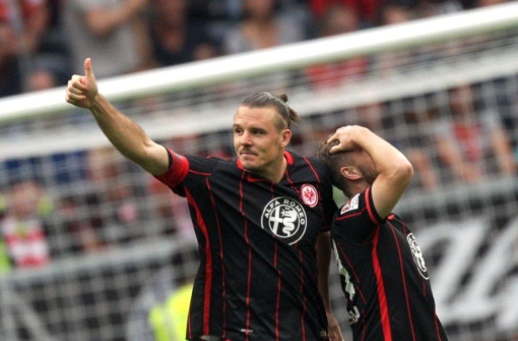 Alexander Meier hat beim 6:2-Sieg der Eintracht gegen Köln drei Mal getroffen. Foto: dpa