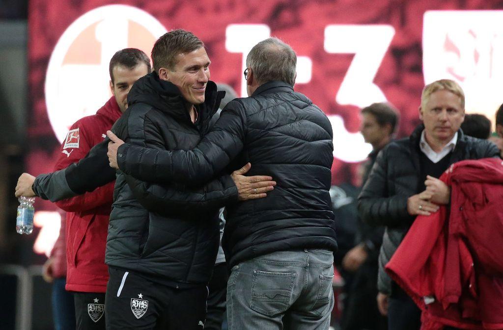 Nach dem Erfolg beim 1. FC Kaiserslautern, ist der VfB Stuttgart weiterhin im DFB-Pokal dabei. Foto: Pressefoto Baumann