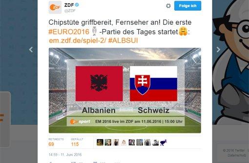 ZDF zeigt falsche Fahne