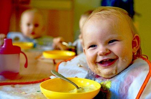 Je kleiner, desto mehr Betreuung ist notwendig: ein unter Dreijähriges in der Kita Foto: dpa