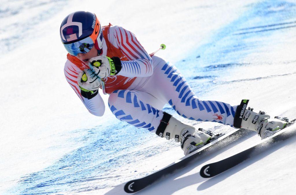 Lindsey Vonn will bei Olympia 2018 die zweite Goldmedaille ihrer Laufbahn holen. Foto: AFP