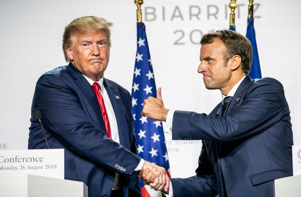 Die Abschlusserklärung der G7-Chefs nach dem Gipfel der Top-Wirtschaftsmächte ist diesmal ungewöhnlich kurz. Foto: dpa