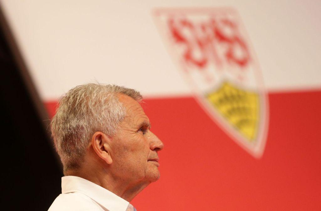 Präsident Wolfgang Dietrich will den VfB fit für die Zukunft machen. Das betrifft auch die Nachwuchsarbeit des Bundesligisten. Foto: Baumann