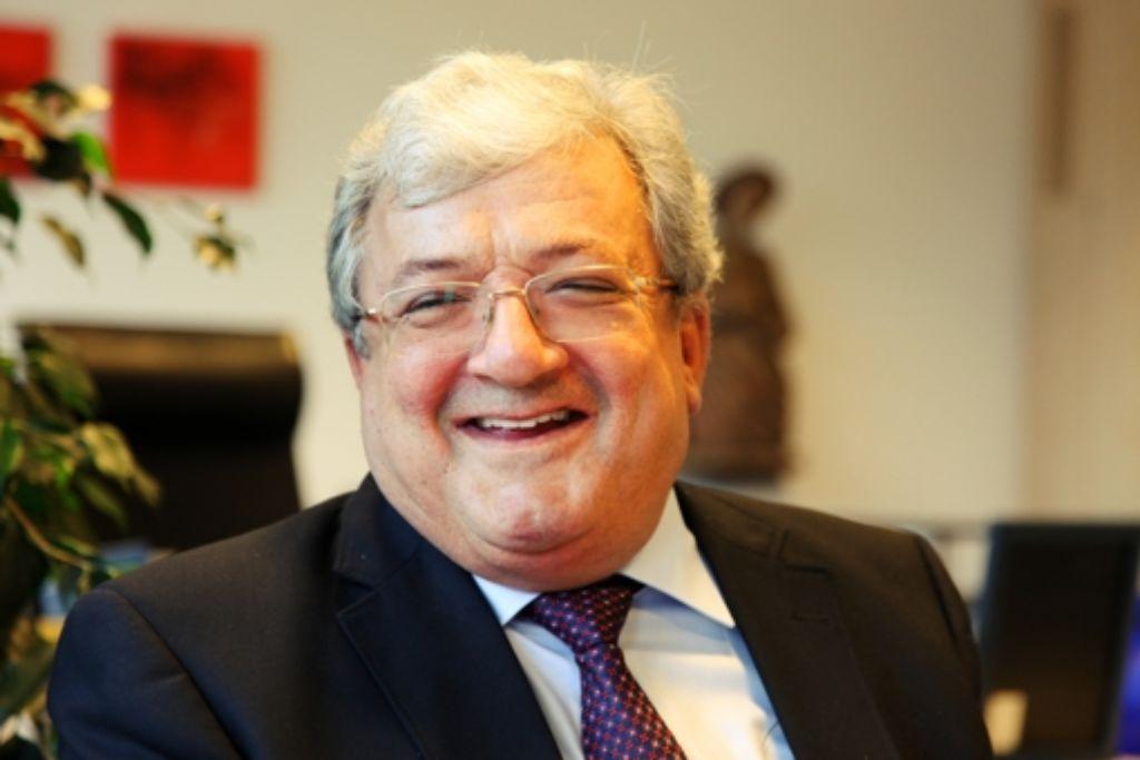 Leutseliger  Duodezfürst:  nach 16 Dienstjahren als Landrat von Ravensburg geht Kurt Widmaier im Mai in den Ruhestand. Foto: