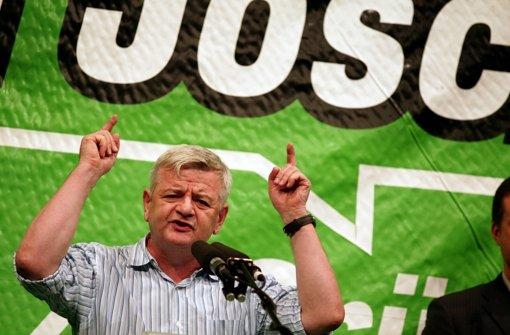 Joschka zurück  als Wahlkämpfer