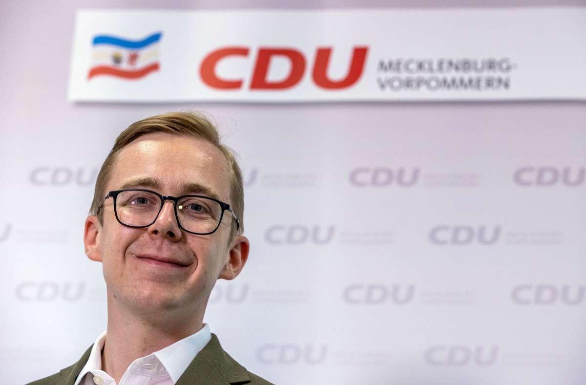 Philipp Amthor (CDU) hat sich beim Wirtschaftsminister für eine amerikanische Firma verwendet, deren Direktor er später wurde. Foto: dpa/Jens Büttner