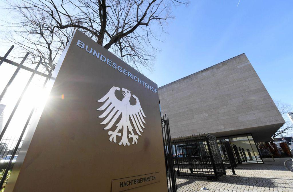 Auf ihn hofft nun die Stuttgarter Versicherung: der Bundesgerichtshof in Karlsruhe Foto: dpa