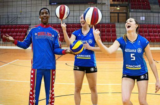 Probetraining mit  Volleyball-Damen