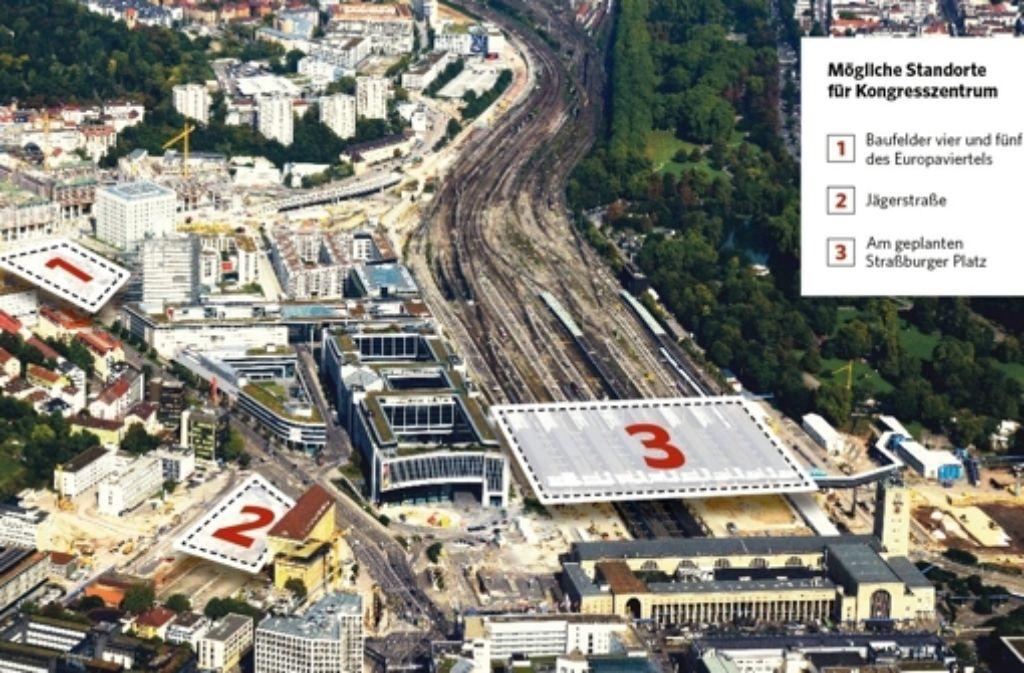 Nach Aussage des Finanzbürgermeisters sollte ein mögliches neues Veranstaltungs- und Tagungszentrum in der Nähe des Stuttgarter Hauptbahnhofs gebaut werden. Foto: Manfred Storck
