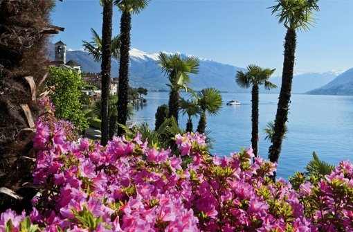 """So beschaulich, der Lago Maggiore. Kein Wunder, dass sich  der """"Regler"""" Gabriel Tretjak  in die Berge oberhalb des Sees zurückgezogen hat – doch die Ruhe erweist sich als trügerisch. Foto: Switzerland Tourism"""