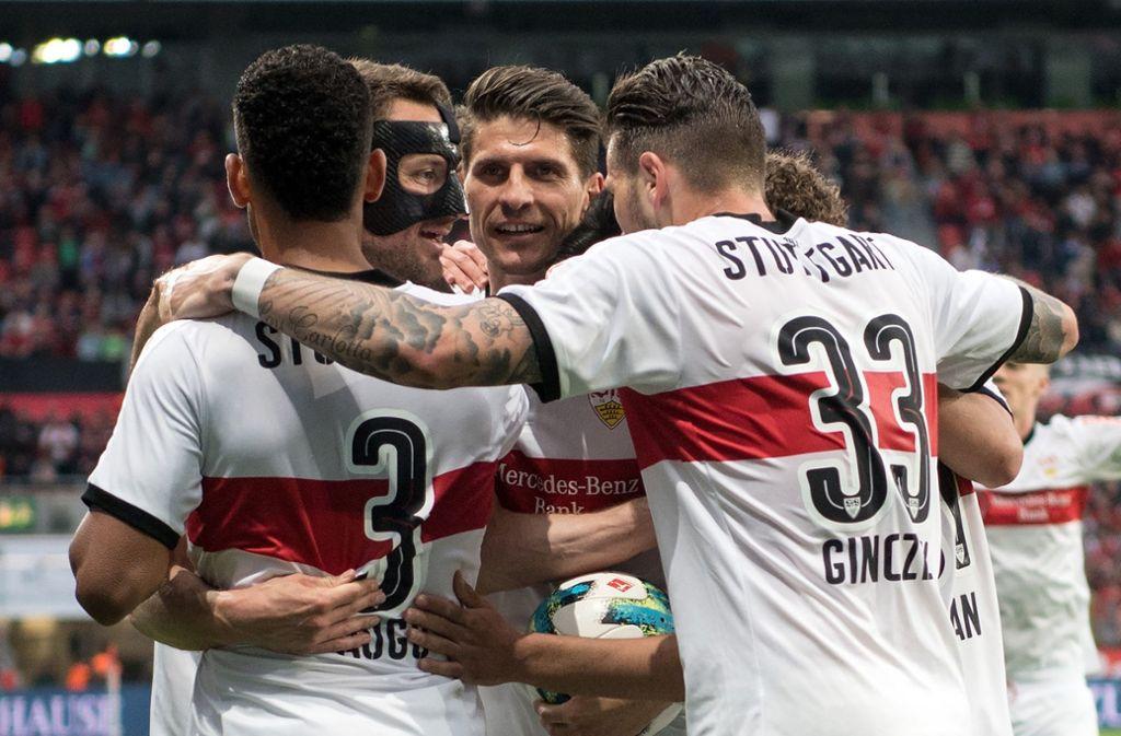 Die Marktwerte einiger VfB-Spieler stiegen nach dem grandiosen Saison-Abschluss. Foto: dpa