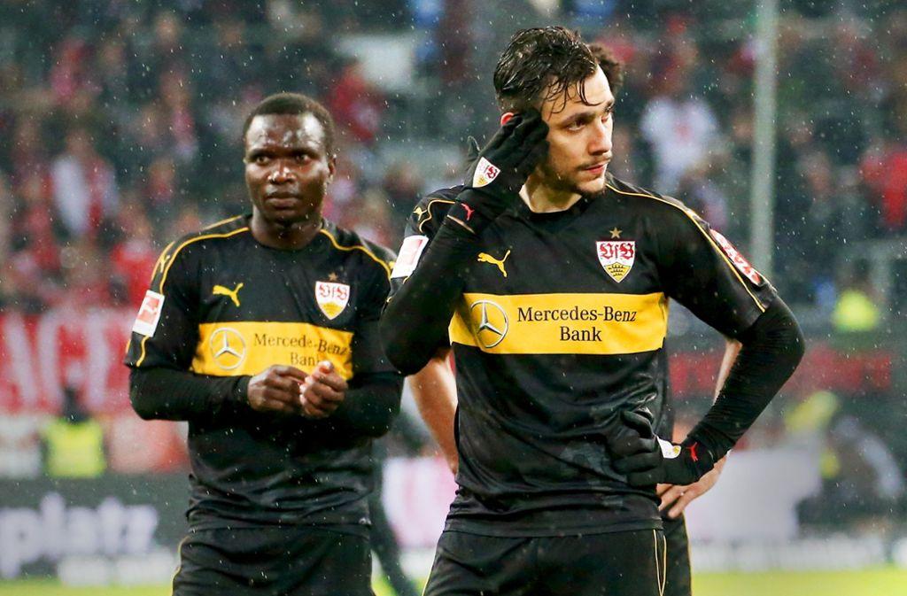 Mit Verspätung kassiert der VfB 7,5 Millionen Euro für Chadrac Akolo (li.) und Anastasios Donis. Foto: Baumann