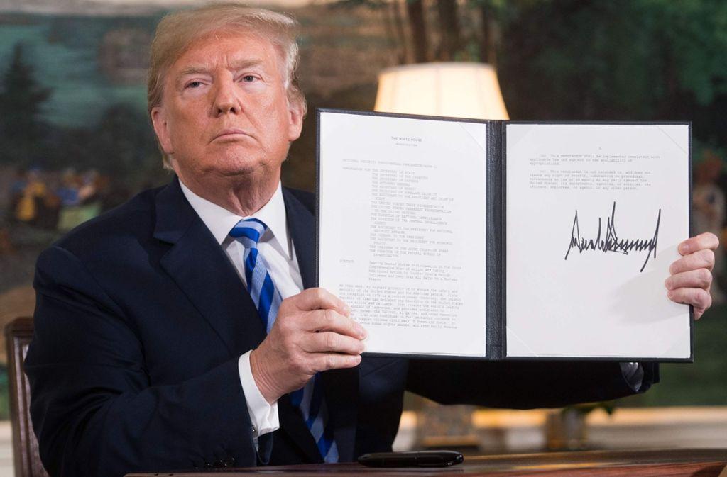 Mit seiner Entscheidung hat Donald Trump international Aufsehen erregt. Foto: AFP