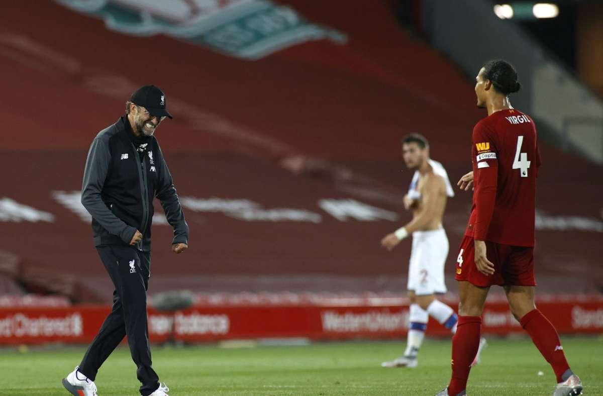 Der FC Liverpool feierte eine 4:0-Gala gegen Crystal Palace. Foto: AP/Phil Noble
