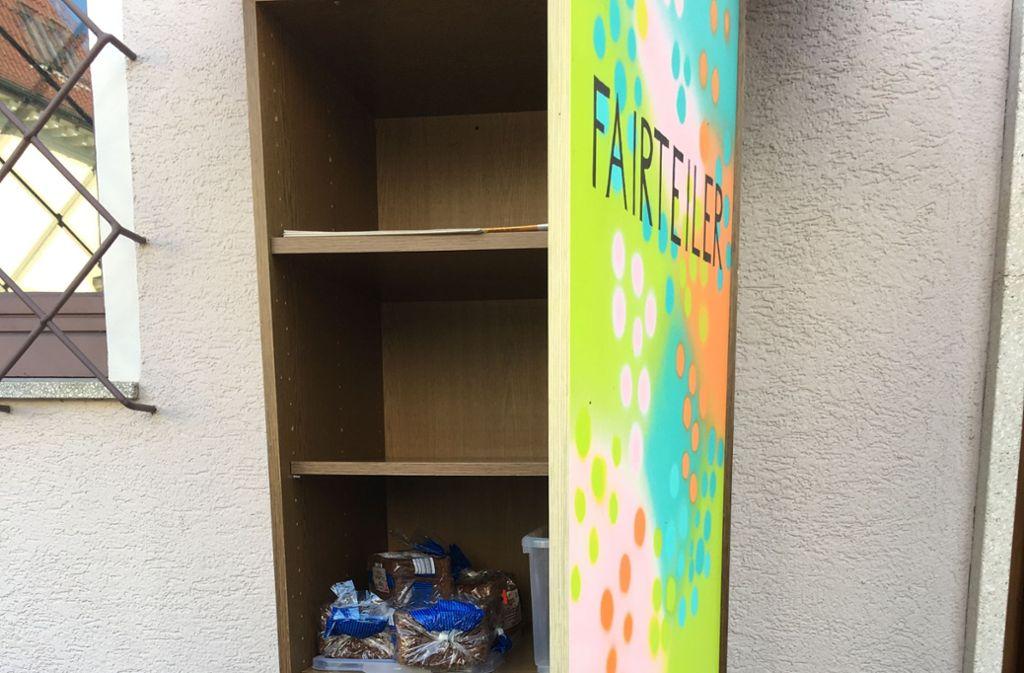 Leicht verderbliche Lebensmittel sind im Fair-Teiler Schrank tabu Foto: Evangelische Kirche