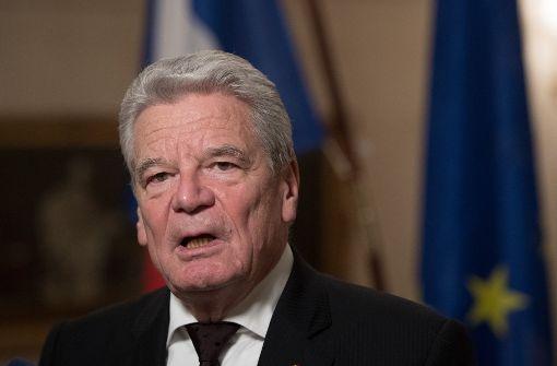 Gauck im höchsten Tempel der französischen Sprache