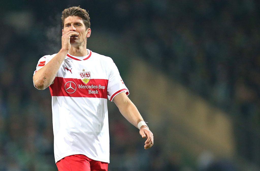 Mario Gomez vom VfB Stuttgart Foto: Baumann