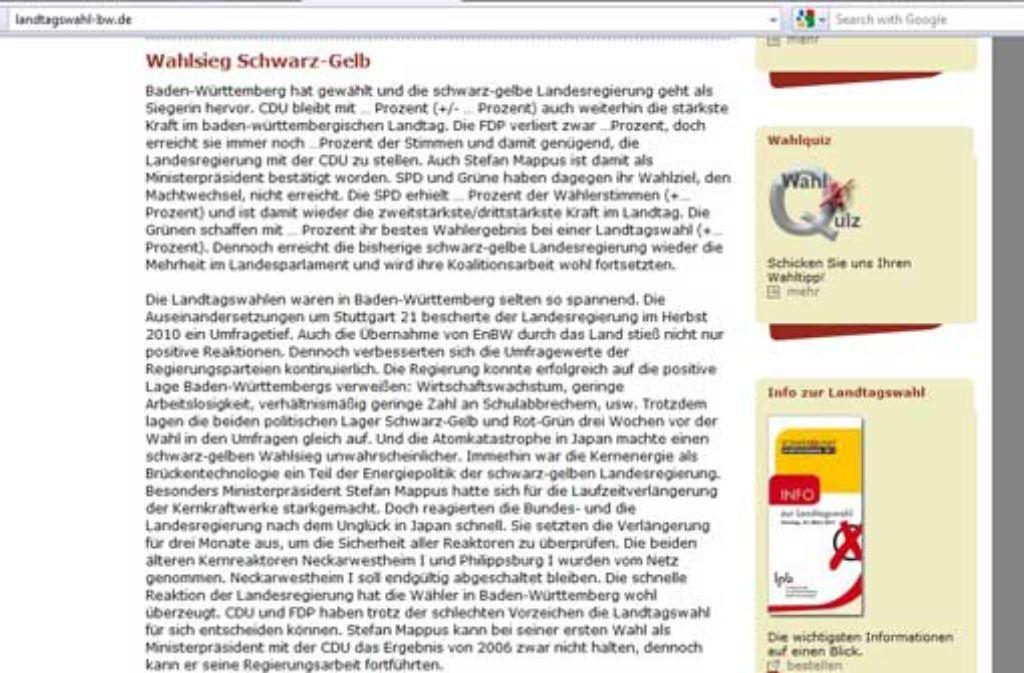 Foto: Screenshot StZ