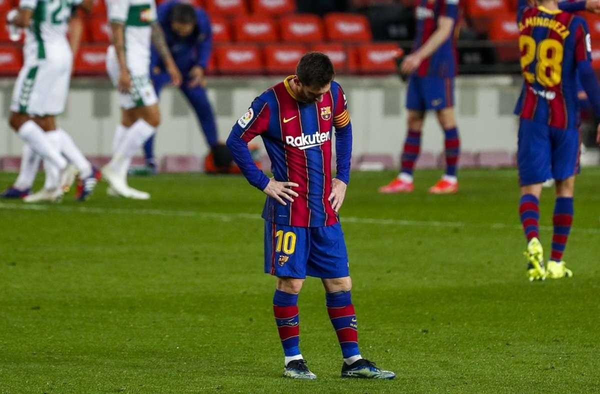 Beim Club um Superstar Lionel Messi gab es am Montag eine Razzia. Foto: dpa/Joan Monfort