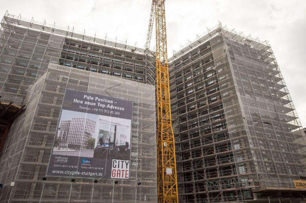 Wir haben aktuelle Bilder von der Großbaustelle des CityGate-Gebäudes in Stuttgart-Mitte - klicken Sie sich durch. Foto: www.7aktuell.de | Florian Gerlach