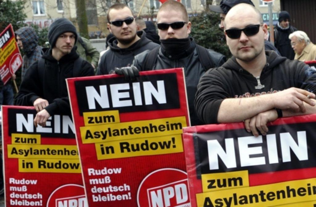 Mitglieder der NPD Foto: dapd